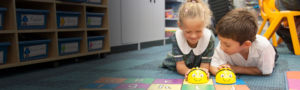 St-Aidan's-Maroubra students playing with bee robot