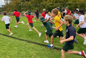 Students from St Francis of Assisi Paddington running cross country